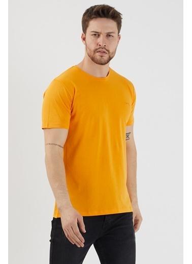 Slazenger Slazenger SANDER Erkek T-Shirt Turuncu Oranj